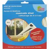 Joint caoutchouc profil P PVM - Blanc - Longueur 10 m