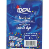 Teinture tissu main-machine Ideal - Sachet 15 g - Bleu franc n°16