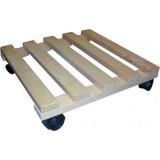 Porte plante en bois à roulette Masy - Longueur 35 cm
