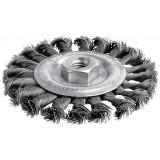 Brosse circulaire mèches acier torsadées SCID - Diamètre 115 mm - 12500 tr/min maximum