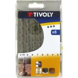 Coffret forets béton carbure usage fréquent Tivoly - 8 forets - Diamètre 3 à 10 mm
