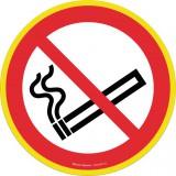 Panneau de signalisation rond Novap - Défense de fumer - Haute visibilité - Diamètre 30 cm