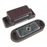 Loqueteau magnétique 4 kg Strauss Vonderweidt - Marron - Entraxe 36,5 mm - Longueur 44,5 mm - Vendu par 2