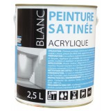 Peinture acrylique Batir 1er - Boîte 2,5 l - Satinée - Blanc