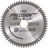 Lame au carbure pour scie circulaire SCID - Epaisseur 2,8 mm - 60 dents - Diamètre 190 mm - Alésage 30 mm
