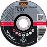 Disque abrasif type Silver SCID - Métaux - Diamètre 115 mm