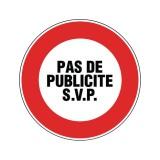 Disque signalétique adhésif diamètre 8 cm Novap - Pas de publicité SVP