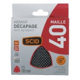 Patin maille auto-agrippant 105 mm SCID - Grain 40 - Vendu par 5
