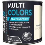Peinture multi-supports satin soyeux Batir - Blanc désert - 0,5 l
