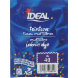 Teinture tissu main-machine Ideal - Sachet 15 g - Iris n°40