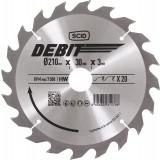 Lame au carbure pour scie circulaire SCID - Epaisseur 3 mm - 20 dents - Diamètre 210 mm - Alésage 30 mm