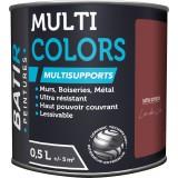 Peinture multi-supports satin soyeux Batir - Lie-de-vin - 0,5 l