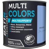 Peinture multi-supports satin soyeux Batir - Bleu lavande - 0,5 l