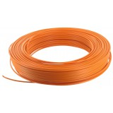 Fil H07 V-U 1,5 mm² - Couronne 100 m - Orange