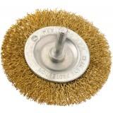 Brosse circulaire acier laitonné ondulé SCID - Diamètre 75 mm