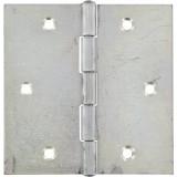 Charnière carrée fer zingué Strauss Vonderweidt - Hauteur 90 mm - Largeur 90 mm - Vendu par 2