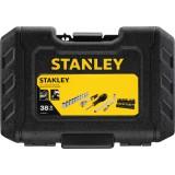 """Douilles et accessoires 1/4"""" - Coffret de 38 pièces - Stanley"""