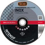 Disque à tronçonner l'inox SCID - Moyeu déporté - Diamètre 230 mm - Alésage 22,2 mm