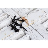 Vis spéciale penture tête étoilée acier zingué noire - 6x40 - 100 pces - FixPro
