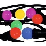 Guirlande LED multicolor Tibelec - Longueur 10 m - 10 ampoules