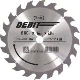 Lame au carbure pour scie circulaire SCID - Epaisseur 2,8 mm - 20 dents - Diamètre 180 mm - Alésage 16 mm