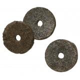 Rondelle feutre bitumé - Diamètre extérieur 20 mm - Intérieur 7 mm - Vendu par 100