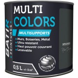 Peinture multi-supports satin soyeux Batir - Noir onyx - 0,5 l