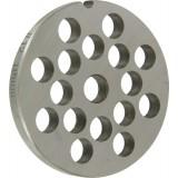 Grille acier Reber - Pour hachoir à viande n°12 - Grille 68 mm - Trou 10 mm