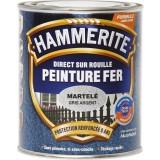 Peinture martelée Hammerite - Boîte 750 ml - Gris argent