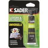 Colle universelle solvantée Sader - Tube 30 ml