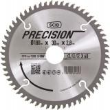 Lame au carbure pour scie circulaire SCID - Epaisseur 2,8 mm - 60 dents - Diamètre 180 mm - Alésage 30 mm