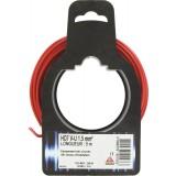 Fil H07 V-U 1,5 mm² Dhome - Longueur 5 m - Rouge