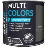 Peinture multi-supports mat poudré Batir - Noir Sylvestre - 0,5 l