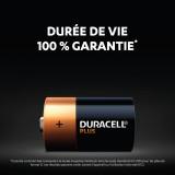 Piles Mainline Plus 100% D Duracell - Blister de 4 - Alcaline