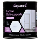 Peinture laque multi-supports brillante Aquarel - 0,5 l - Blanc