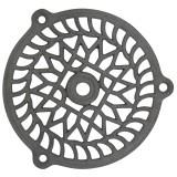 Grille fonte fixe Jardinier Massard - Ronde - Diamètre 130 mm