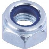 Ecrou hexagonal indesserrable acier zingué  - Diamètre 8mm - 6pces - Fixpro