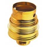 Douille B22 acier laitonné avec passage fil Legrand - Raccord diamètre 10 mm - Double bague