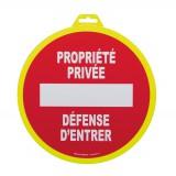 Panneau de signalisation propriété privée Novap - Diamètre 30 cm