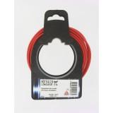 Fil H07 V-U 2,5 mm² Dhome - Longueur 5 m - Rouge