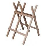 Chevalet de sciage bois - En hêtre - 3 branches - Hauteur 75 cm - Largeur 40 cm