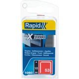 Agrafe inox n°53 Rapid Agraf - Hauteur 10 mm - 1080 agrafes