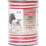 Ruban de clôture 12,5 mm Chapron Lemenager - Blanc et rouge - 200 m