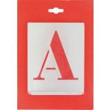 Jeu de lettres pochoirs alphabet aluminium ajouré Uny - Dimensions 100 mm