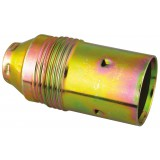 Douille E14 acier laitonné L'Ebénoïd - Raccord a vis diamètre 10 mm