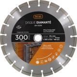 Disque diamanté polyvalent professionnel SCID - Diamètre 300 mm