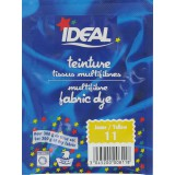 Teinture tissu main-machine Ideal - Sachet 15 g - Jaune n°11