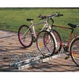 Support vélo face à face Mottez - 5 vélos - Longueur 1,25 - Largeur 0,35 m