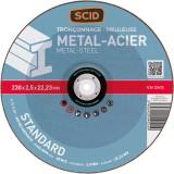 Disque à tronçonner standard SCID - Métaux - Diamètre 230 mm - Alésage 22,2 mm