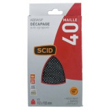 Patin maille iron auto-agrippant 152 x 102 mm SCID - Grain 40 - Vendu par 5